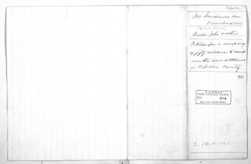 New Scandinavia settlers to Governor Nehemiah Green - Page