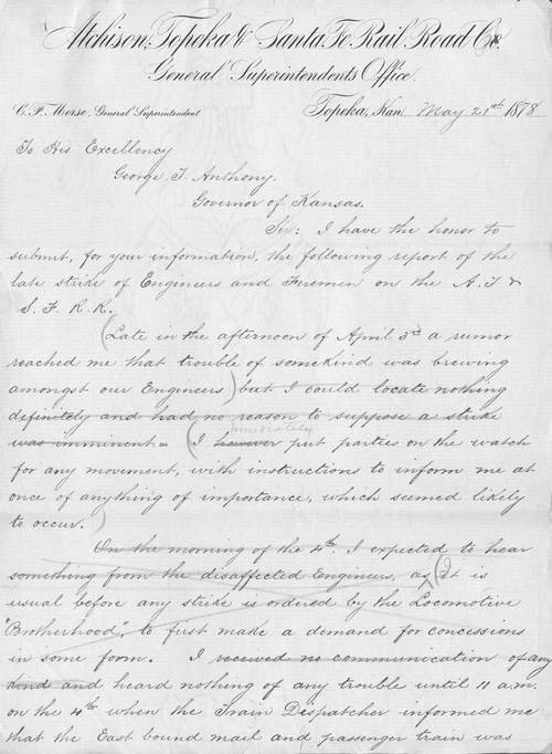 Charles F. Morse to Governor George T. Anthony - Page