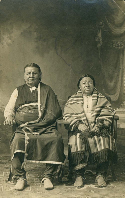 Unidentified Osage man and woman - Page