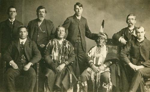 Kansa Indian delegtion at Washington, D. C. - Page