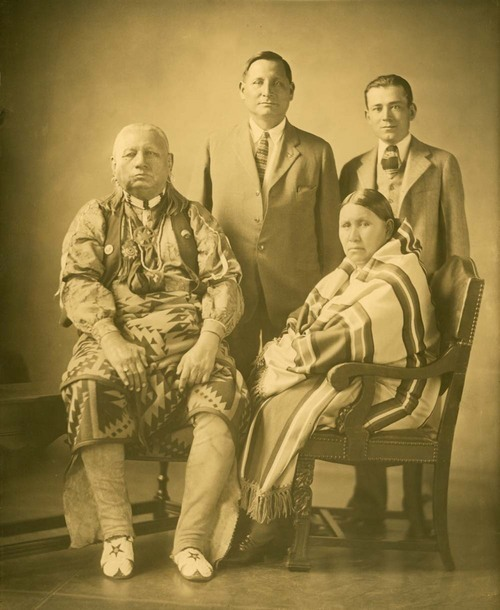 Chief Bacon Rind, Lizzie Ne-ho-Jah, and Forrest W. Chouteau - Page