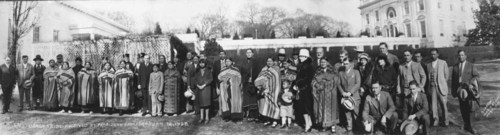 Osage Tribe received by President Coolidge - Page