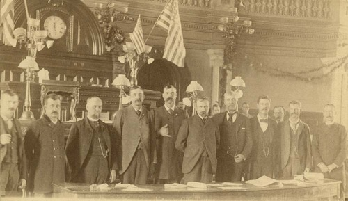 C. C. Clevenger and members of the Douglass House, Topeka, Kansas - Page