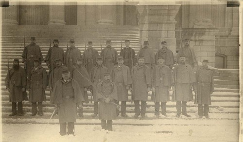 Populist guards at the Kansas Statehouse, Topeka, Kansas - Page