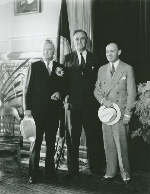 """President Franklin Delano Roosevelt with John Nance """"Jack"""" Garner and Harry Hines Woodring - Page"""