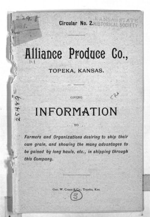 Alliance Produce Co., Topeka Kansas.  Information - Page