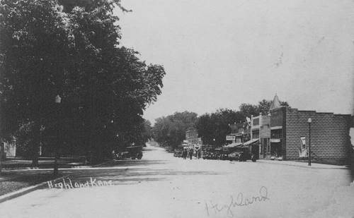 Main street, Highland, Kansas - Page