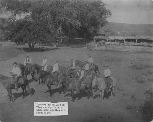 Cowboys on horses - Page