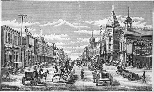 Street scene of Wellington, Kansas - Page
