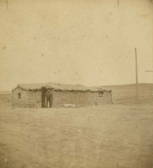 Sod house, Dodge City, Kansas. - Page