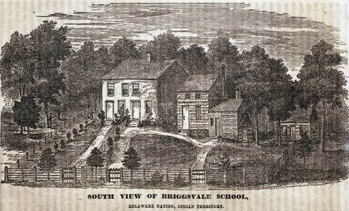 South view of Briggsvale School on the Delaware Baptist Mission, Wyandotte County - Page