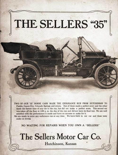 "The Sellers ""35"", The Sellers Motor Car Company, Hutchinson, Kansas - Page"