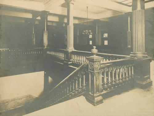 Kansas State Capitol building stairway, Topeka, Kansas - Page
