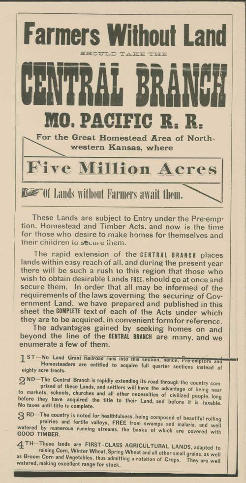 Missouri Pacific railroad advertisement - Page