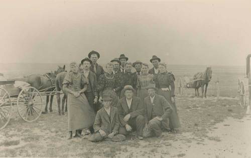 Photograph of Swedish pioneers in Greeley County
