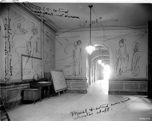 John Steuart Curry's proposed mural placement at the Kansas Capitol - Page