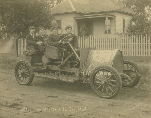 After 140 mile test in the mud, a Sellers Motor Car Company automobile - Page