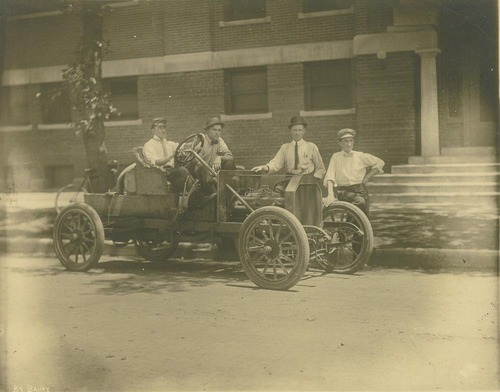 William Nelson Benninghoff in a Sellers Motor Car Company automobile - Page