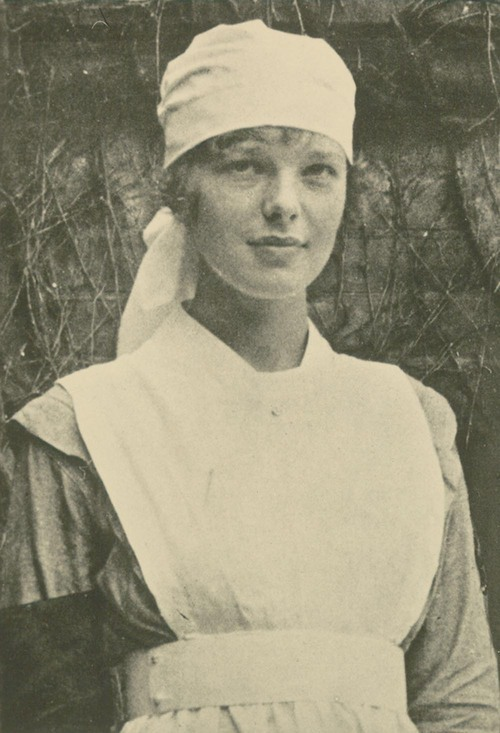 Amelia Earhart as a nurses' aid - Page