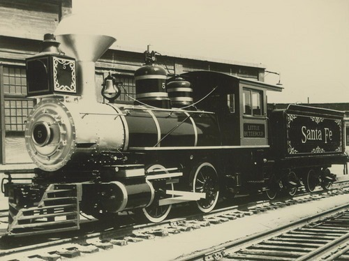 """Little Buttercup"" steam-powered locomotive engine - Page"