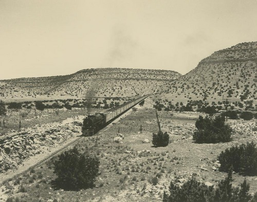 Atchison, Topeka & Santa Fe Railway Company's steam locomotive, Scholie, New Mexico - Page