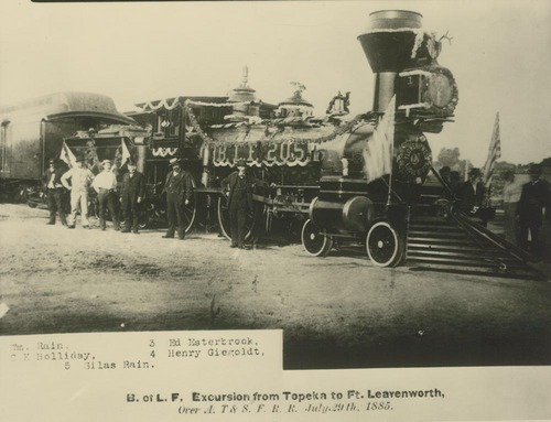 Steam-powered locomotive, Kansas - Page