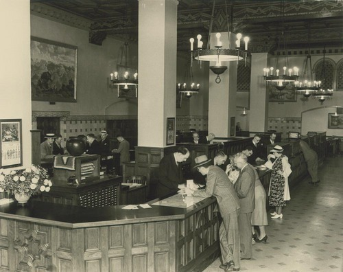 Atchison, Topeka & Santa Fe Railway Company ticket counter - Page