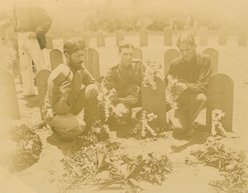 20th Kansas Regiment's band members at cemetery - Page