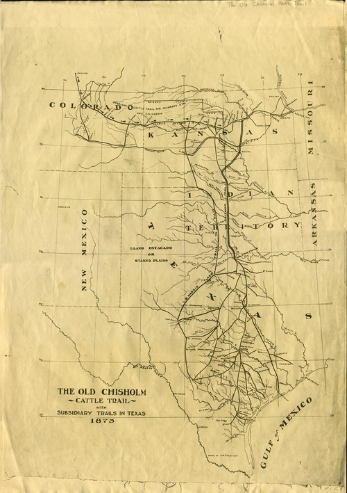 Old Chisholm cattle trails - Page