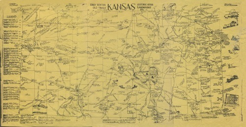 Kansas: early routes, old trails, historic sites, landmarks, etc. - Page
