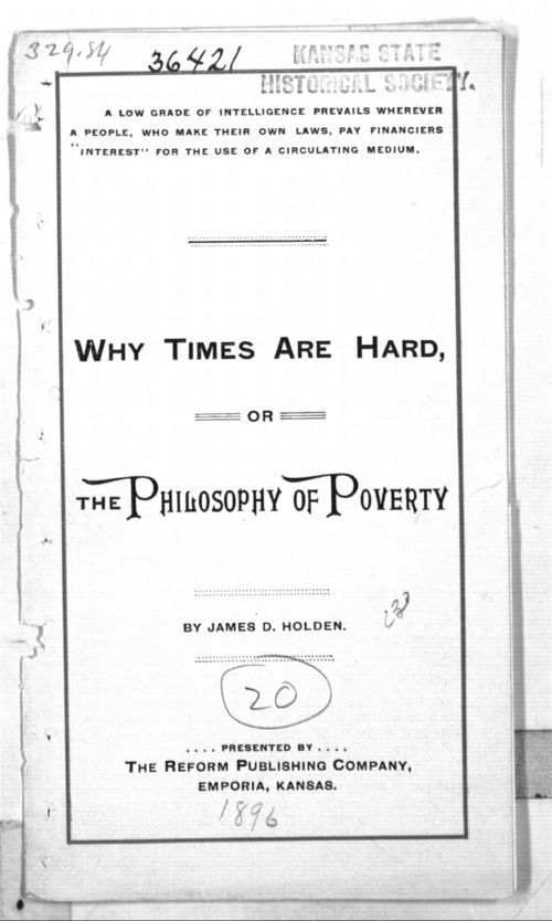 Why times are hard; or the philosophy of poverty - Page