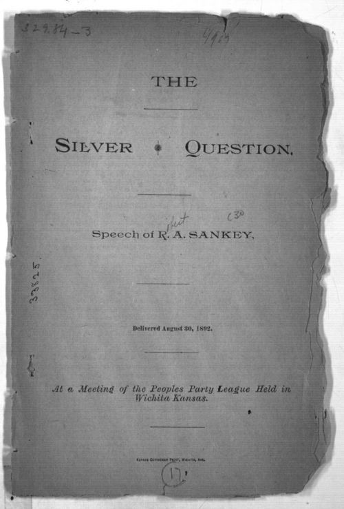 The Silver Question: Speech of R. A. Sankey - Page