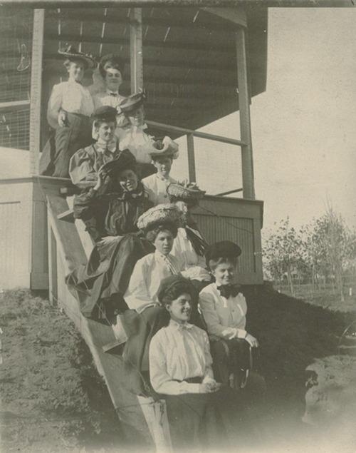 Women at a gazebo, Anthony, Kansas - Page