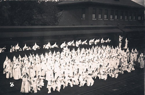Ku Klux Klan with a railroad car - Page