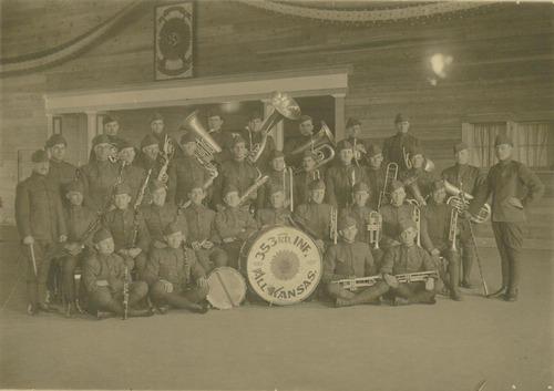 353rd Infantry Band at Camp Funston, Kansas - Page
