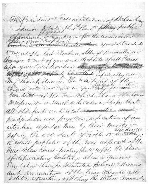 Speech written by John J. Ingalls - Page