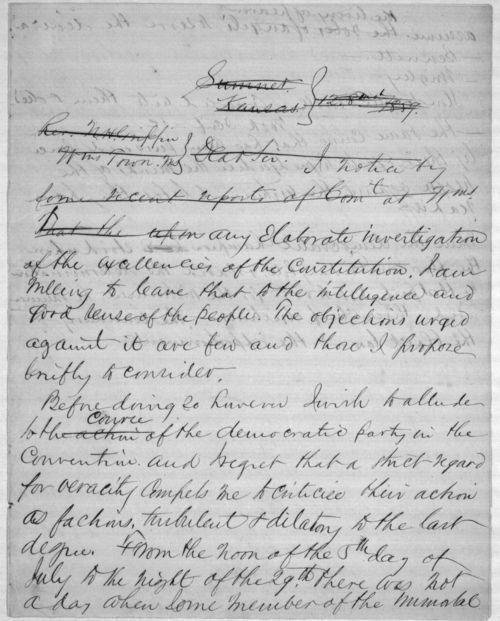 Speech written by John J. Ingalls - Page