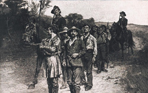 Free-State prisoners on their way to Lecompton - Page