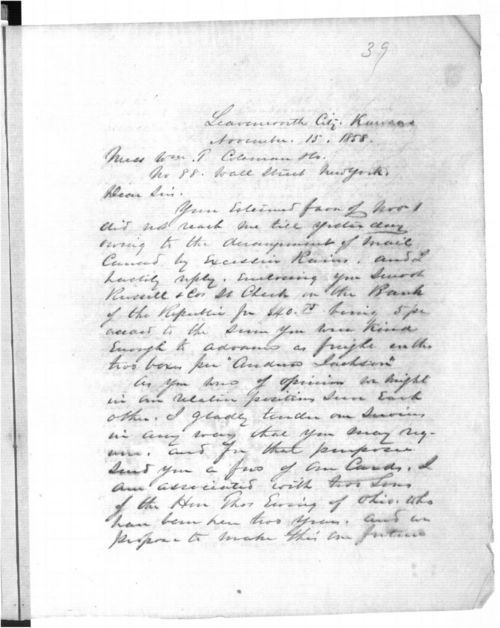 William Tecumseh Sherman to William T. Coleman & Co. - Page