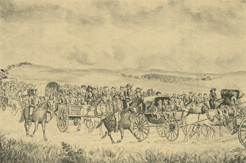 General Lane escorting the legislature to Lecompton - Page