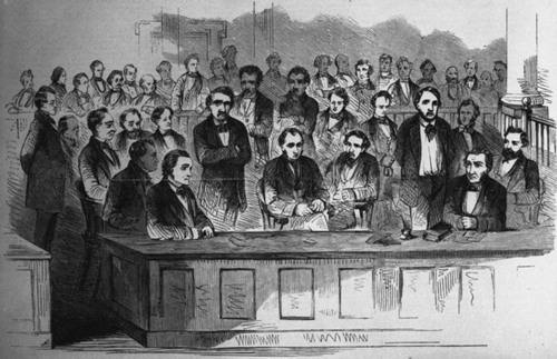 Sketch of the prisoners Cook, Coppic, Greene, and Copeland - Page