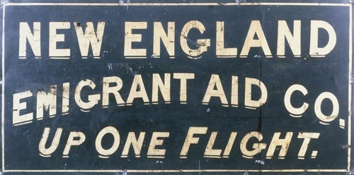 New England Emigrant Aid Company trade sign - Page