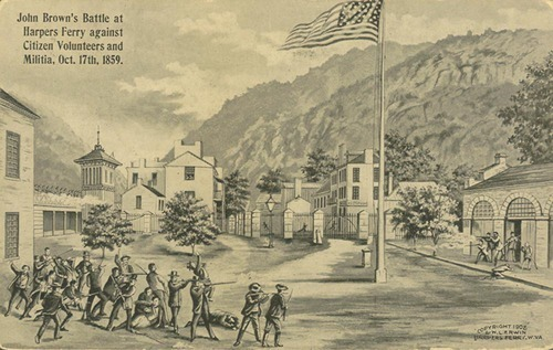 John Brown's battle at Harpers Ferry against citizen volunteers and militia - Page