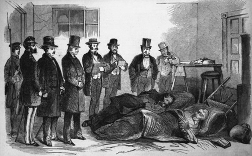 Governor Wise, of Virginia, examining the wounded Harpers Ferry prisoners - Page