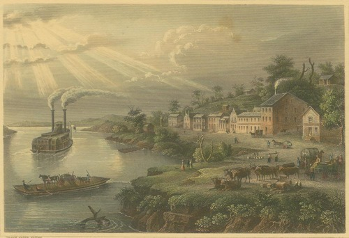 Riverboat and town on the Kansas & Missouri Rivers - Page