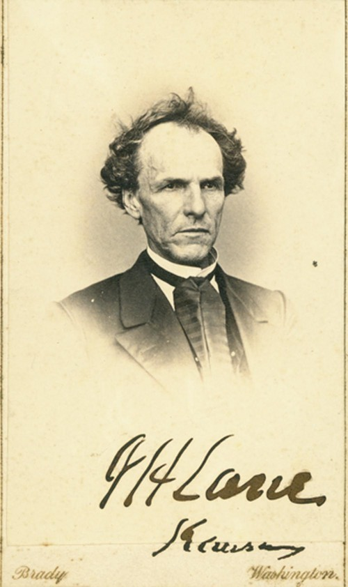 Photograph of James Henry Lane taken by  Matthew Brady.
