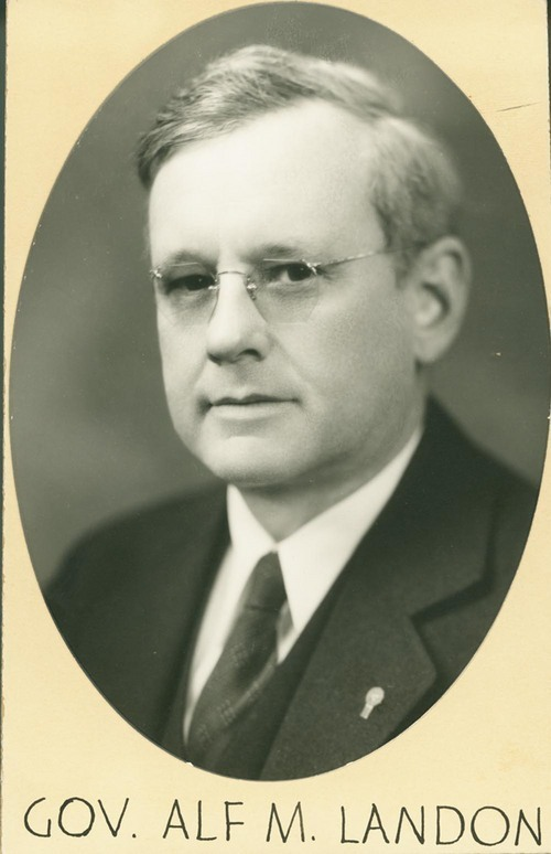 Alfred Mossman Landon, Kansas Governor - Page
