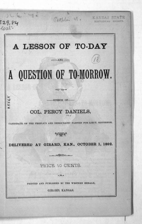 A lesson of to-day and a questions of to-morrow - Page