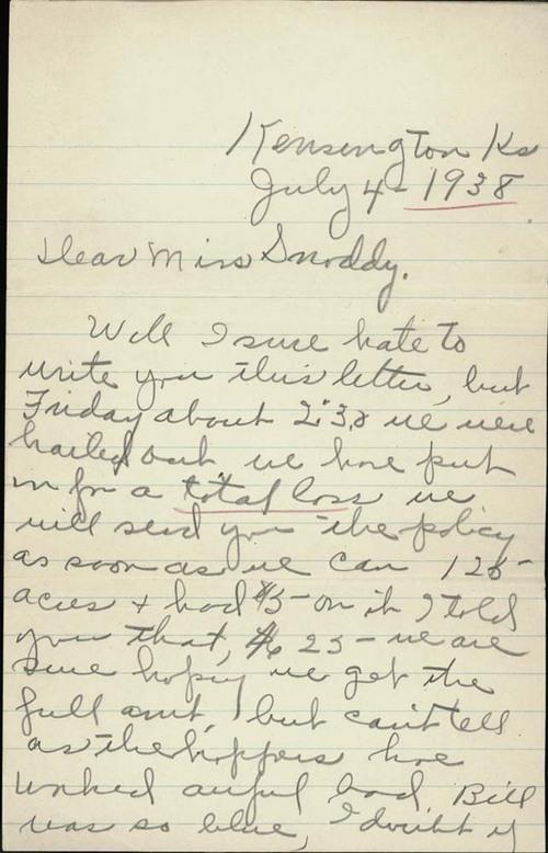 Edna Heim to Miss Clarice Snoddy - Page