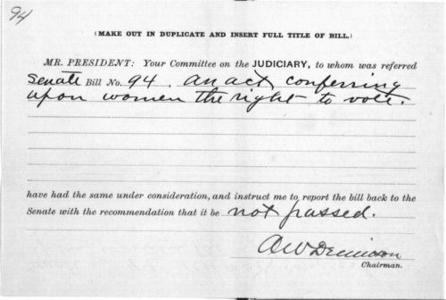 An act conferring upon women the right to vote - Page